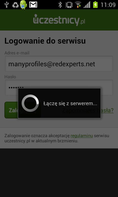 Uczestnicy.pl Check-in- screenshot
