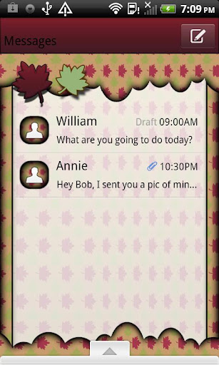 GO SMS THEME AutumnCloud1