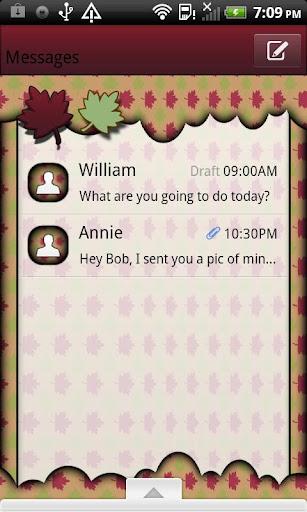GO SMS THEME AutumnCloud1