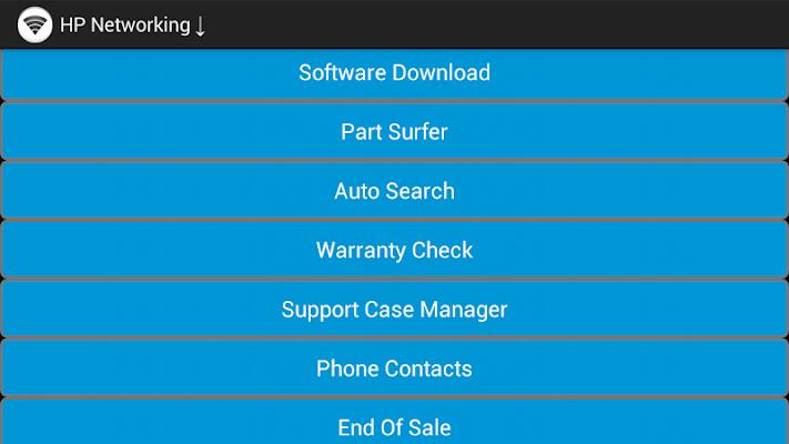 HP Networking support tools - screenshot