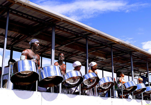 steel-drum-band-Crop-Over-Barbados - A steel band playing the Crop Over celebration on Barbados.