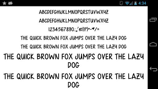Fonts for FlipFont 50 Written  screenshots 3