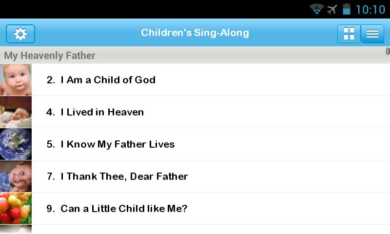 LDS Children's Sing-Along - screenshot