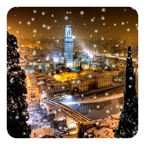 Download Snow Night City Live Wallpaper For PC