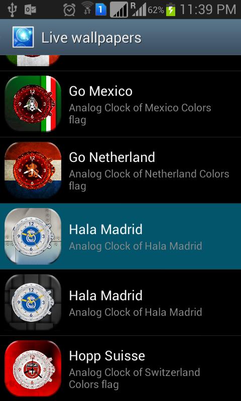 Hala Madrid Live Wallpaper - screenshot