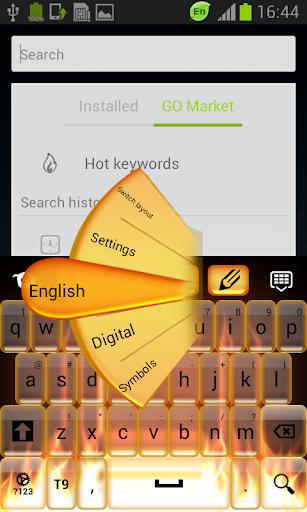 玩免費個人化APP|下載火災キーボードのGOテーマ app不用錢|硬是要APP