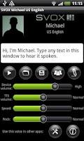Screenshot of SVOX US English Michael Voice