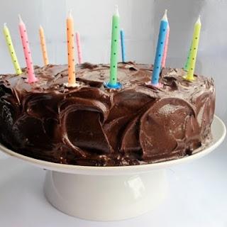 Chocolate Birthday Layer Cake.