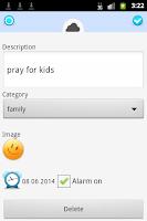 Screenshot of Prayer diary and journal