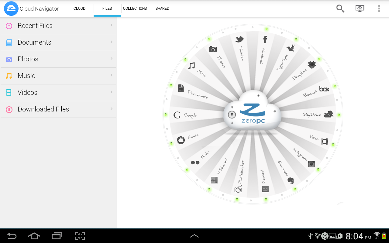 ZeroPC Cloud Navigator- screenshot
