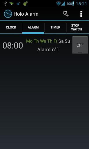 Holo Alarm Timer Chrono
