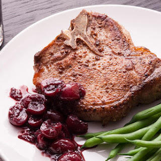 Seared Tenderloin with Cherry-Balsamic Sauce