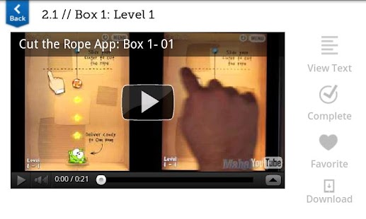 Walkthrough for Cut the Rope- screenshot thumbnail