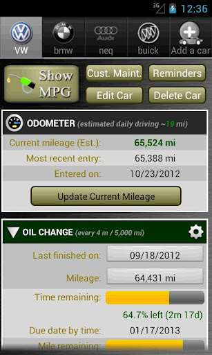 Car Maintenance Reminder Lite