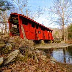 Sleepy Hollow Bridge by RomanDA Photography - Landscapes Mountains & Hills ( mountains, red, seven, devils, 2014, bridge, spring,  )
