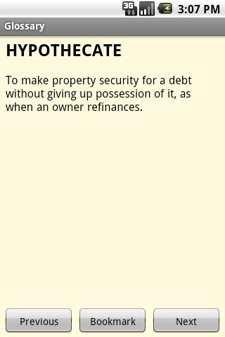 Glossary of Real Estate Terms- screenshot