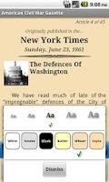 Screenshot of American Civil War Gazette
