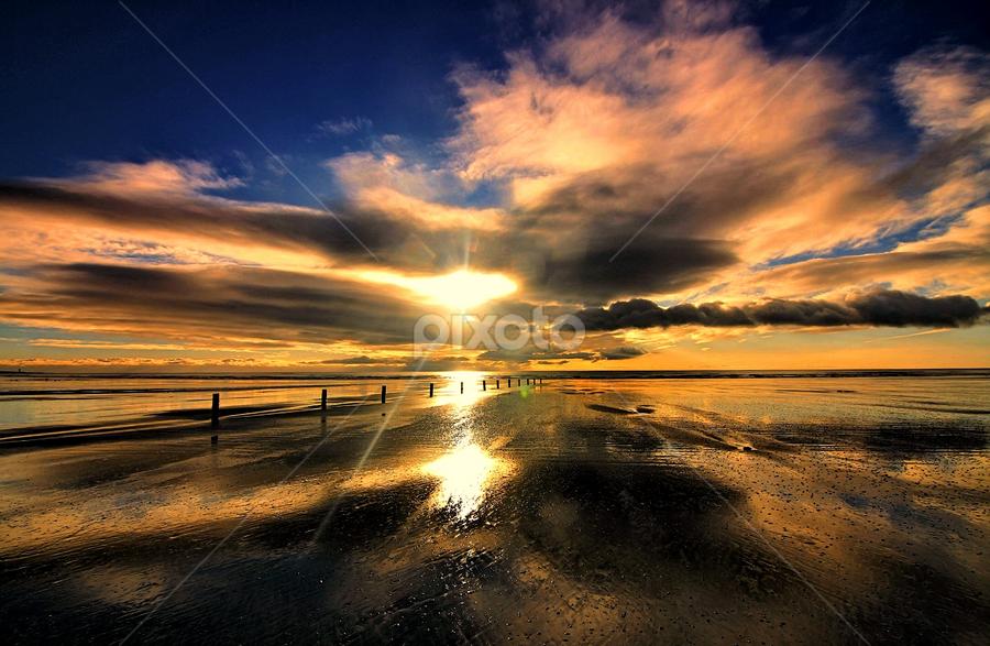 Tyrella sunrise 2 by Gary Power - Landscapes Sunsets & Sunrises