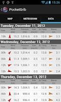 Screenshot of PocketGrib