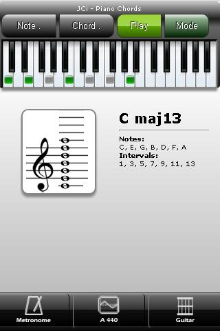 JCi Piano Chords - screenshot
