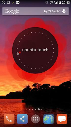 Classic Ubuntu Clock Widget