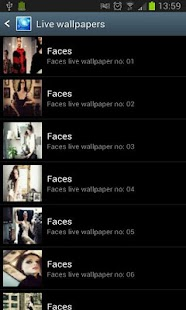 faces animated live wallpaper - screenshot thumbnail