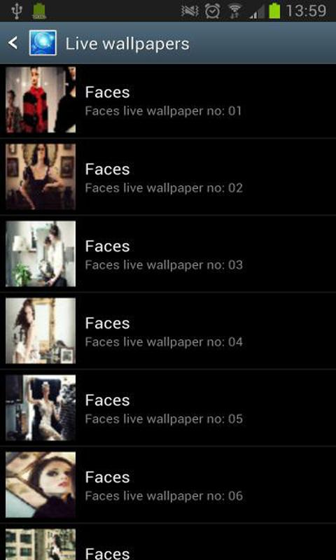faces animated live wallpaper - screenshot