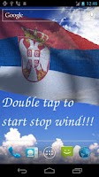 Screenshot of 3D Serbia Flag Live Wallpaper