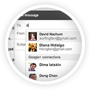 Send messages to Google+ connections