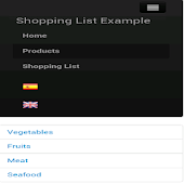 Shopping List Example Phonegap