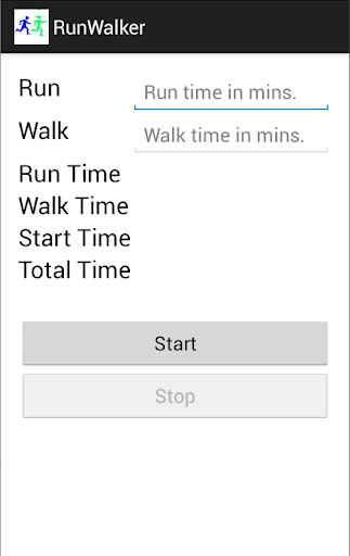 App to RunWalk in a Marathon