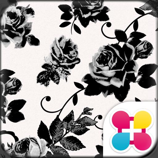 Chic Wallpaper Black Rose Icon