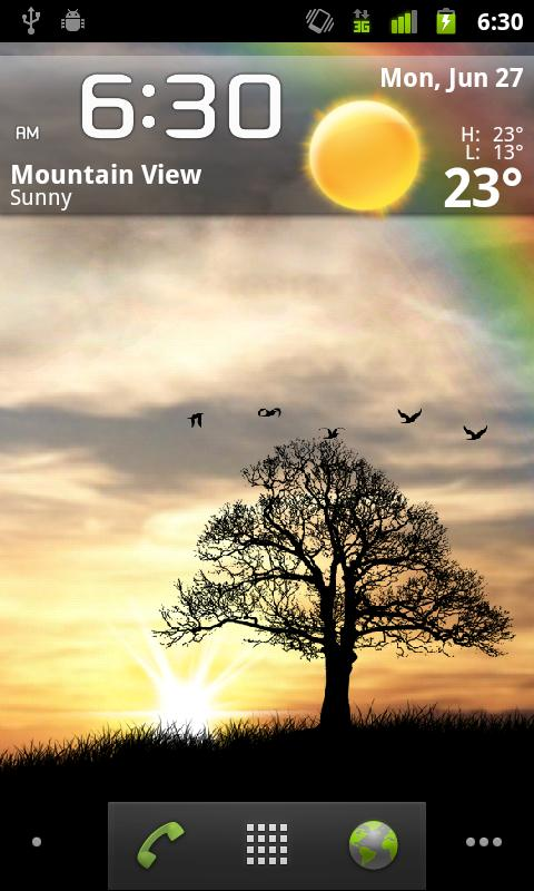 Sun Rise Live Wallpaper Free - screenshot