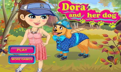 玩休閒App|朵拉和她的狗- 小狗游戏免費|APP試玩