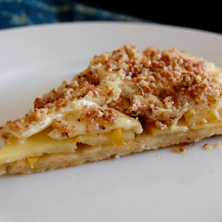 Brie & Apple Tart With Medjool Crunch And A Gruyere Crust.
