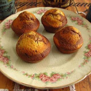 Vanilla And Chocolate Muffins.