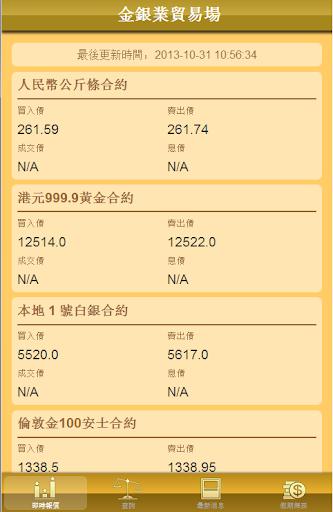 金銀業貿易場即時報價系統