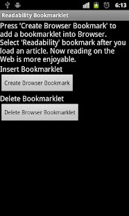 Readability Bookmarklet - screenshot thumbnail