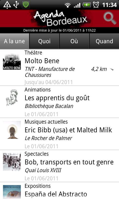 Bordeaux Agenda- screenshot