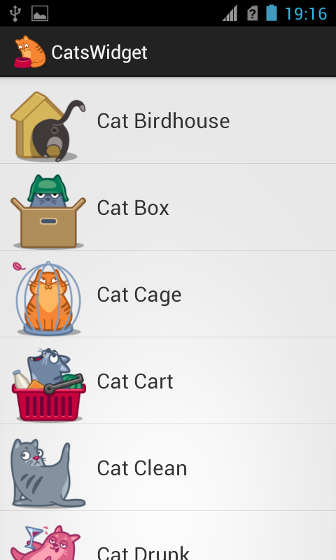 Cats Widget - screenshot