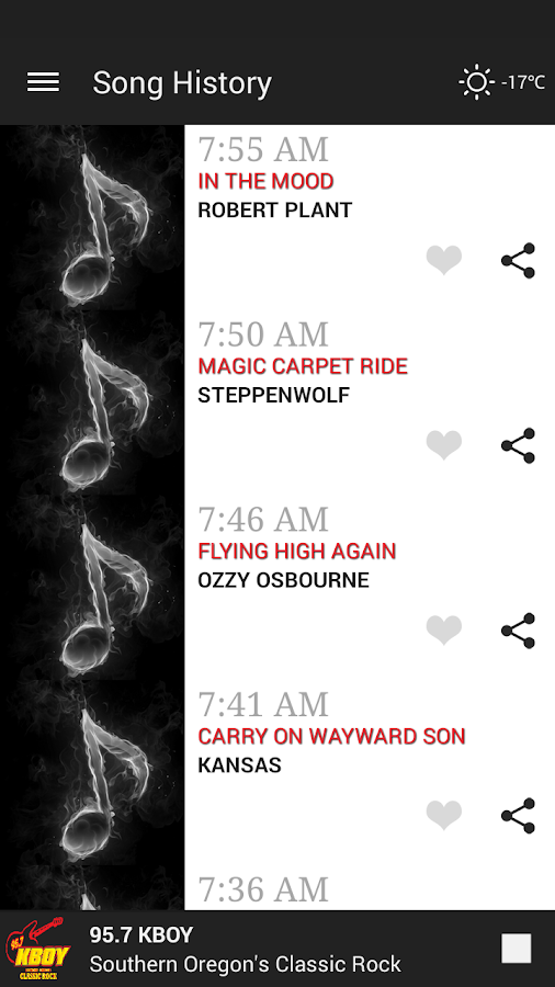 95-7 KBOY Mobile App- screenshot