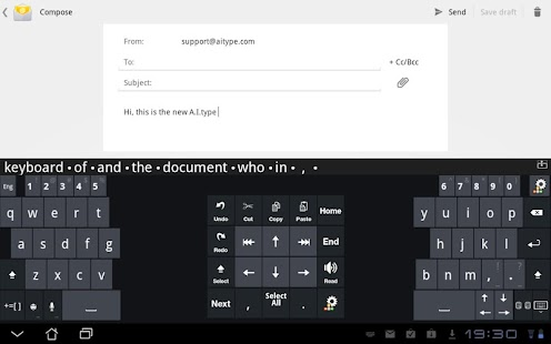 A.I.type Tablet Keyboard Free - screenshot thumbnail