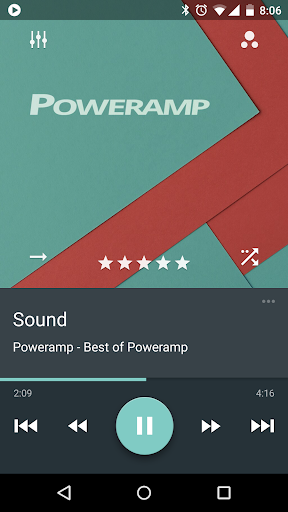 Skin for Poweramp Material  screenshots 1