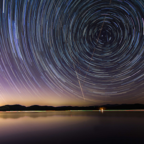 Star Trails by Andrew Savasuk - Landscapes Starscapes ( star trails )
