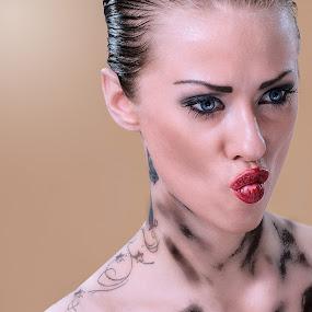 | the kiss | by Photo Jovan - People Portraits of Women ( kiss, kissing, tattoos, eyes,  )