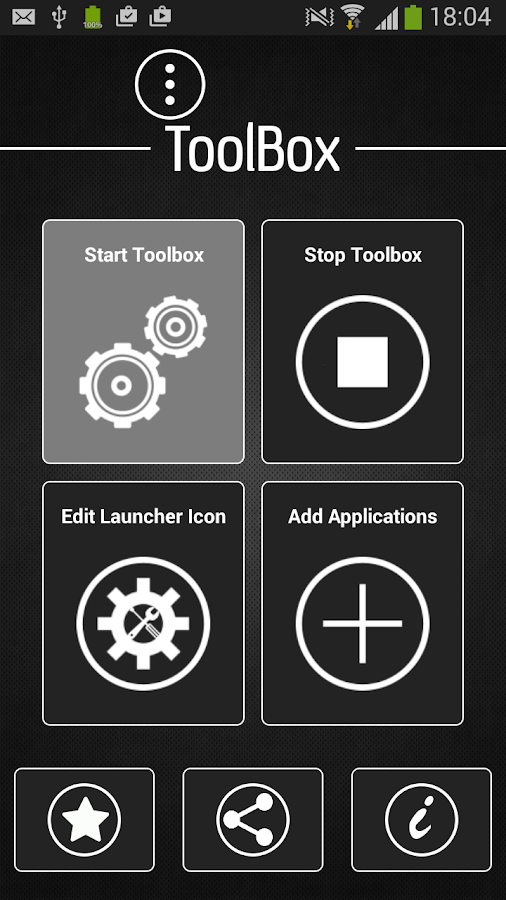 Quick App launcher, tool box- screenshot