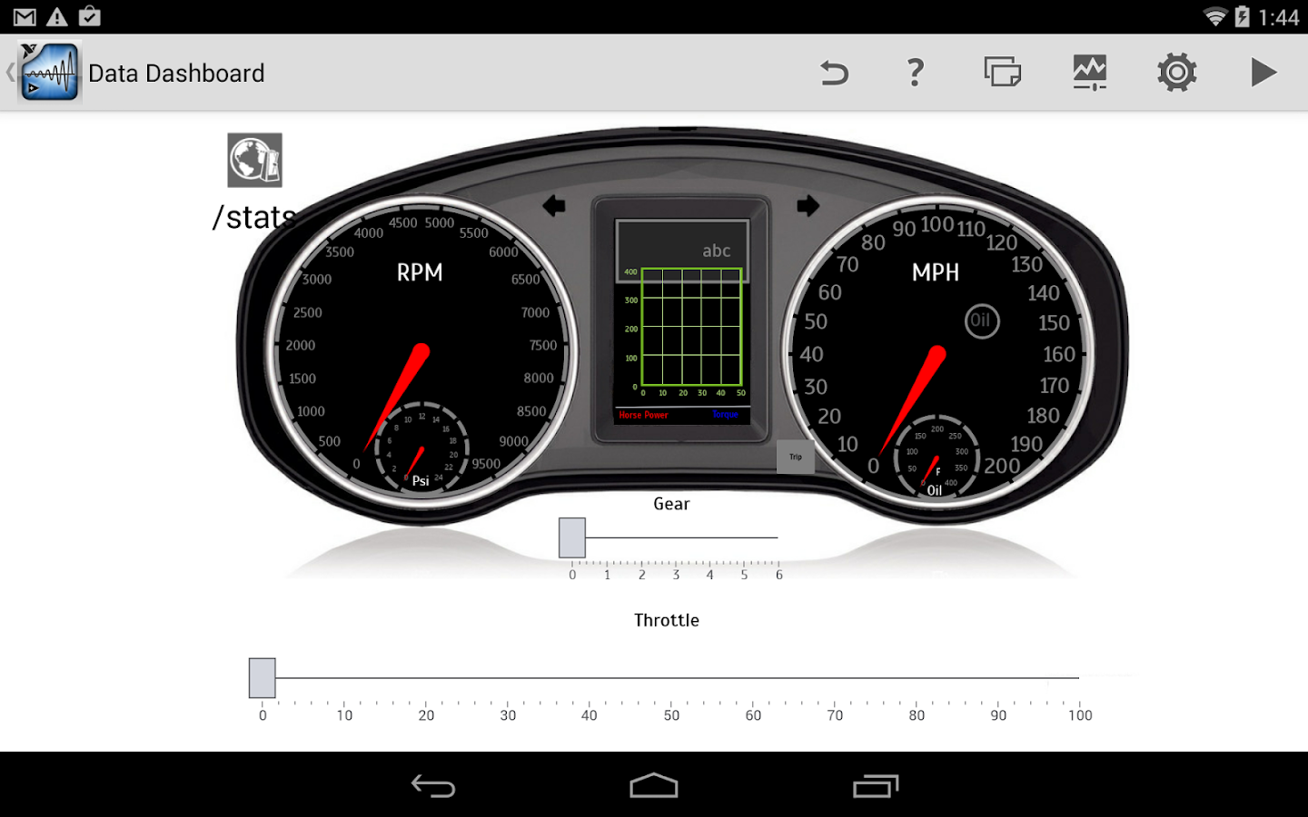 Data Dashboard for LabVIEW - screenshot
