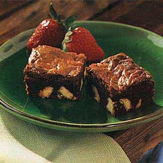 Dark Chocolate Brownies with White Chocolate Chunks.