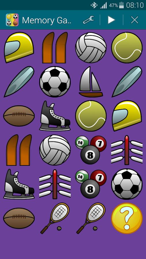 Αθλήματα 1, Παιχνίδι Μνήμης - screenshot