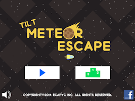 Screenshot of Tilt Meteor Escape